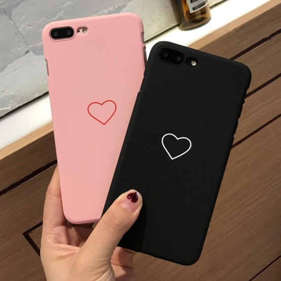 Clearance Sale Items Small Love Heart Phone Case For iphone 5/5s 6/6s 6plus/6splus 7/8plus X/XS XSMax XR Couples Phone Cover