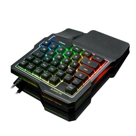 K7 One-handed Mechanical Feel 35-key Light Tablet Keyboard