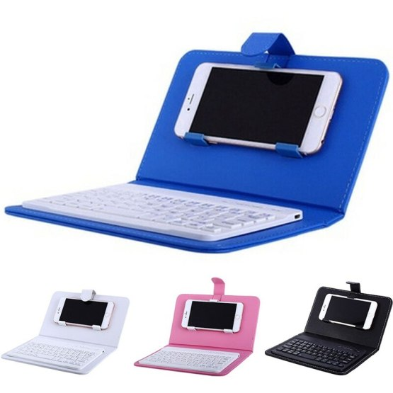 Portable PU Leather Wireless Keyboard Case for iPhone Protective Mobile Phone with Bluetooth Keyboard For IPhone 6 7 Smartphone
