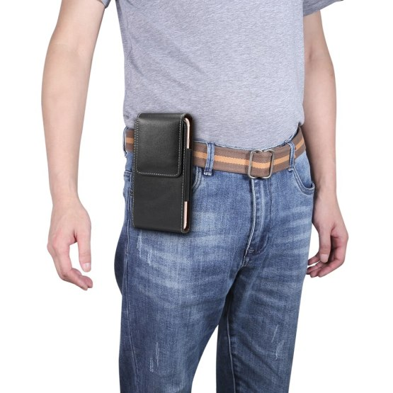 Fashion Universal 4.7-6.9 inch Waist Packs Small Phone Pouch Holster Case PU Leather Fanny Pack Casual Belt Clip Bag