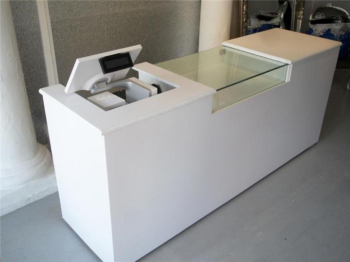 Phone Store Cashier Desk with Glass Showcase  Custom