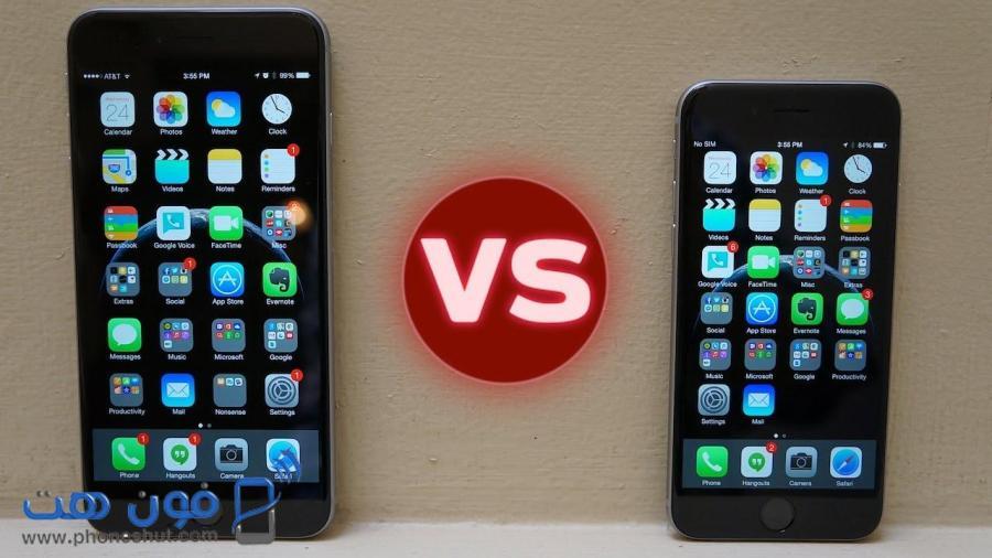 مقارنة هاتف ايفون 6 وايفون 6 بلس المواصفات والمميزات والعيوب