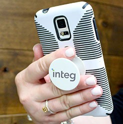 phone socket grip promotional product