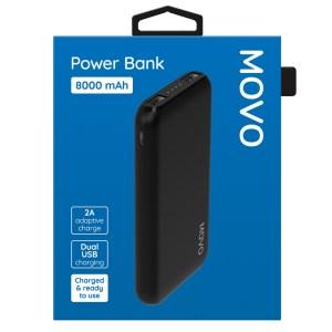 MOVO Power Bank 8000mAh Black