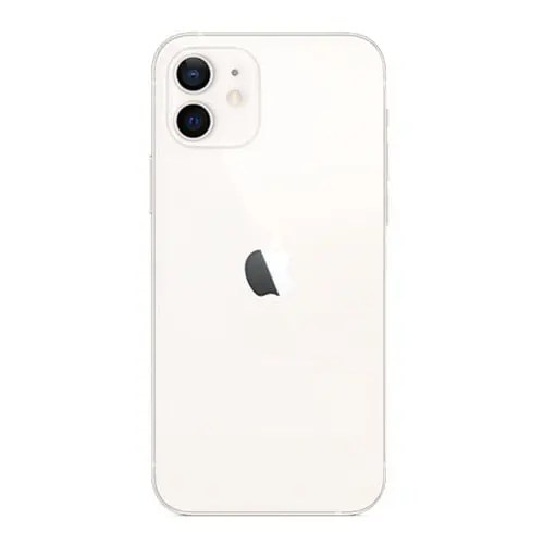 The back of iPhone 12 White Color