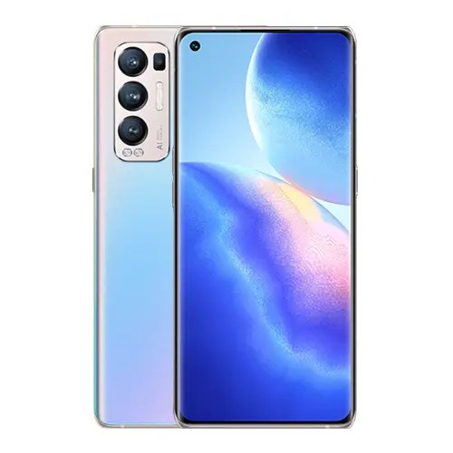 Oppo Find X3 Neo front Display and Galactic Silver Back