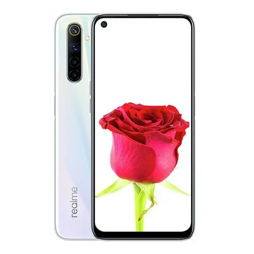 Realme 6 Front Display and White back