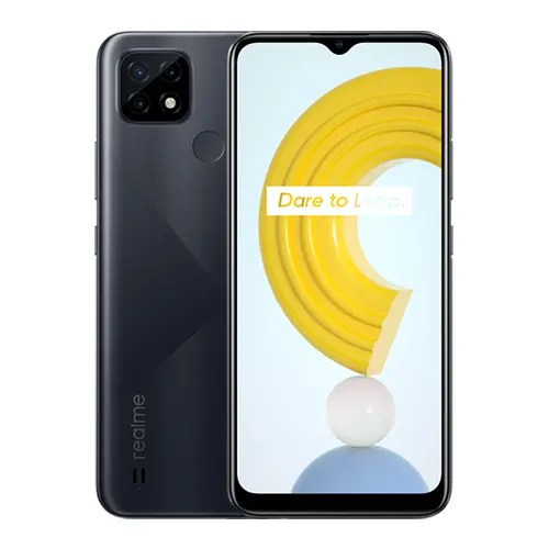 Realme C21 Front display and black back