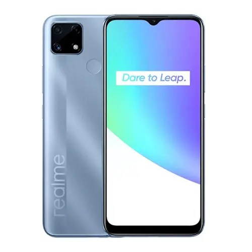 Realme C25 front Display and Blue back