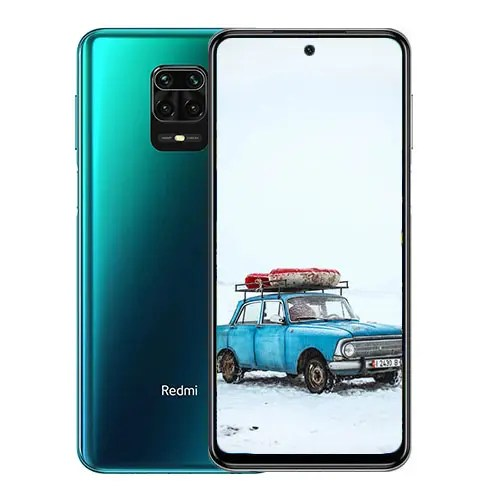 Xiaomi Redmi Note 9s front and green back