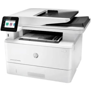 HP LaserJet Pro MFP M428fdw Printer Front and Side Display