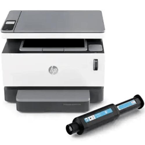 HP Neverstop Laser MFP 1200w Printer with cartridge Display