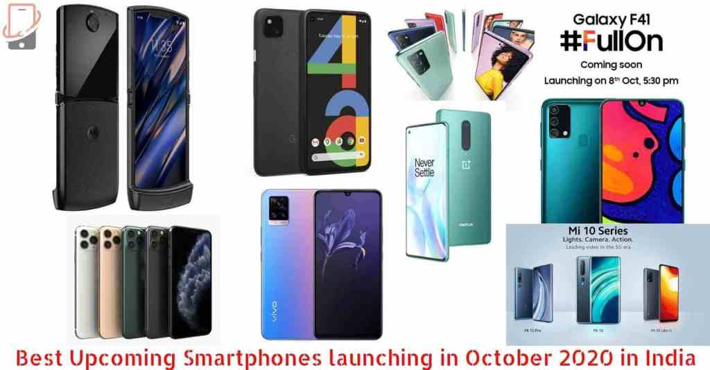 Best Upcoming Smartphones launches in October in India