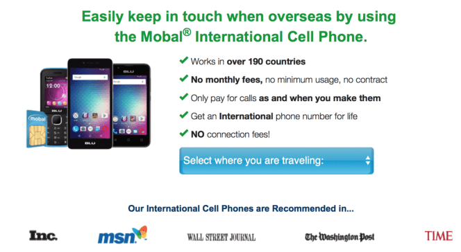 International cell phone