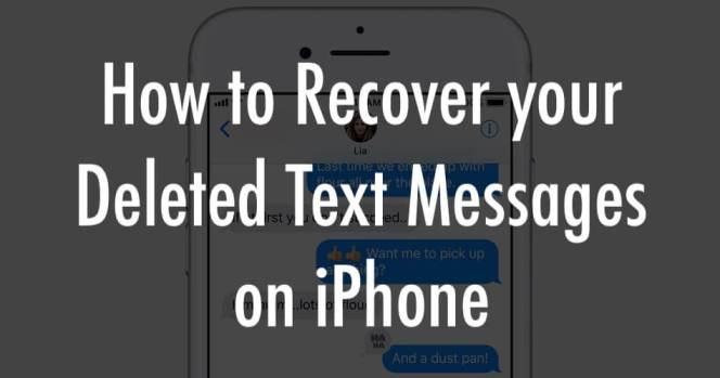 Recovering the deleted text messages on iPhone