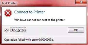 lỗi windows cannot connect to the printer 2