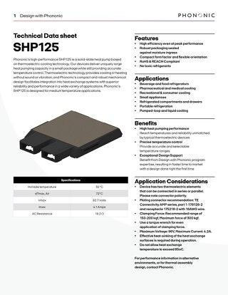SHP 125 Datasheet