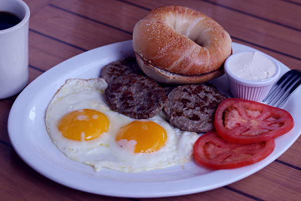 Fluorescent Light Breakfast Creative Food Project, color correct food photography