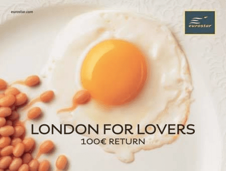 London For Lovers Egg Creative Food Project