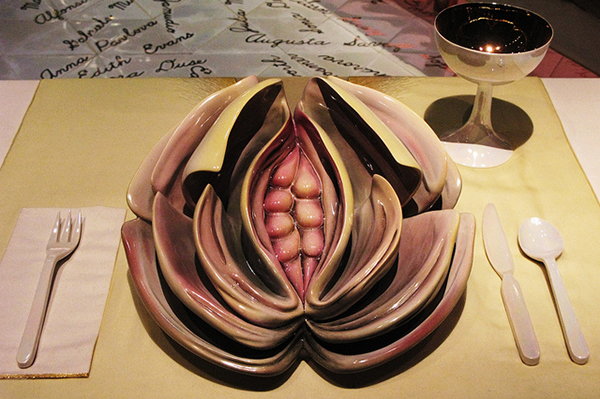 Plate Judy Chicago Virginia Woolf