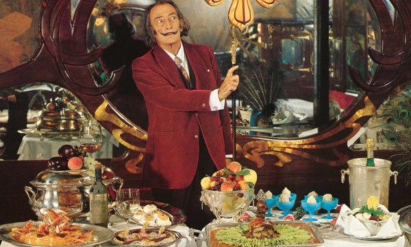 Salvadore Dali Les Diners de Gala the Surrealist Cookbook, surrealist food illustration, food fine arts icons, iconic food still life paintings, surrealist food painting, surrealist food illustrator, food fine arts inspiration, food creative inspiration, influential food artist,