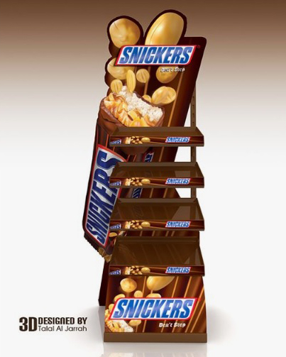 Snickers Point of Sale Creative Food Jobs