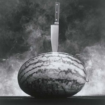 Watermelon with Knife, 1985 Mapplethorpe