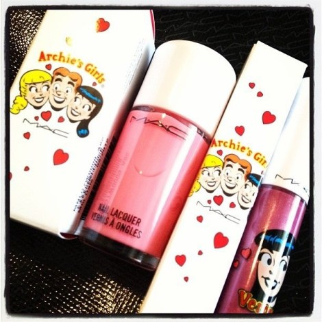 M.A.C. nail polish and lip gloss in such chirpy colours!