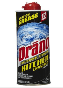 EWGs Guide to Healthy Cleaning  Drano Professional Strength Kitchen Crystals Clog Remover