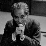 1960年頃 中島健蔵 《川端康成,築地,金田中》