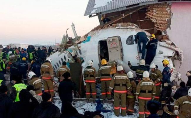 12 Killed Dozens Injured As Plane Crashes In Kazakhstan
