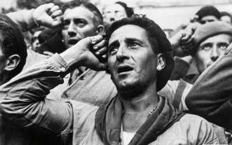 robert capa photo réfugiés espagnols