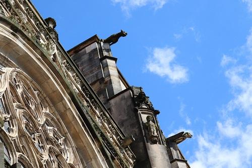 gargouilles de la cathédrale de vienne photo règle de composition contre-plongé