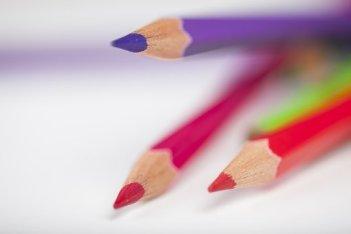 crayons de couleur faible profondeur de champ