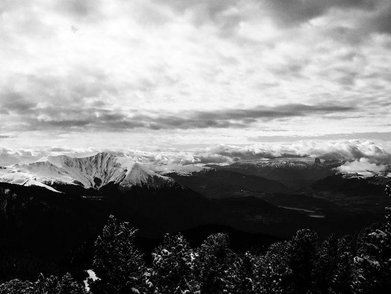 photo de vacances en noir et blanc