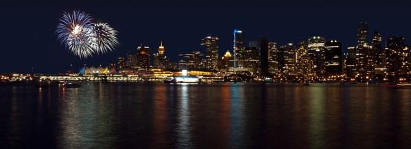 photo feux d'artifice à Vancouver