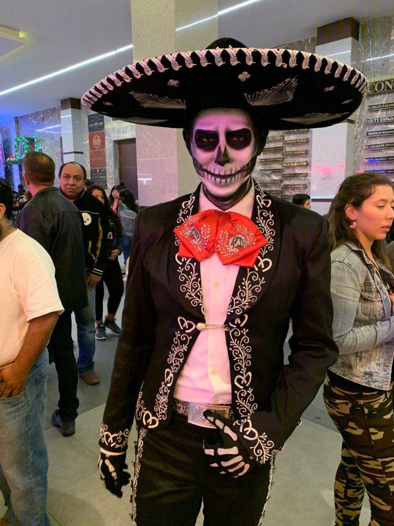 Dia de los Muertos face paint, Mexico City, Mexico ©2019, Cyndie Burkhardt