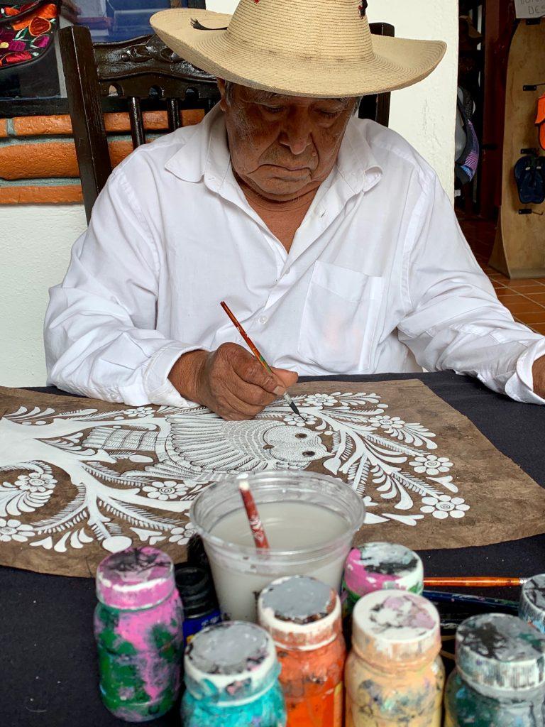 Artist Painting, Taxco, Mexico ©2019, Cyndie Burkhardt