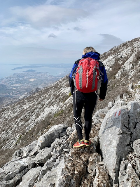 Milena Šijan on Mosor Mountain, Split Croatia ©2020, Cyndie Burkhardt.