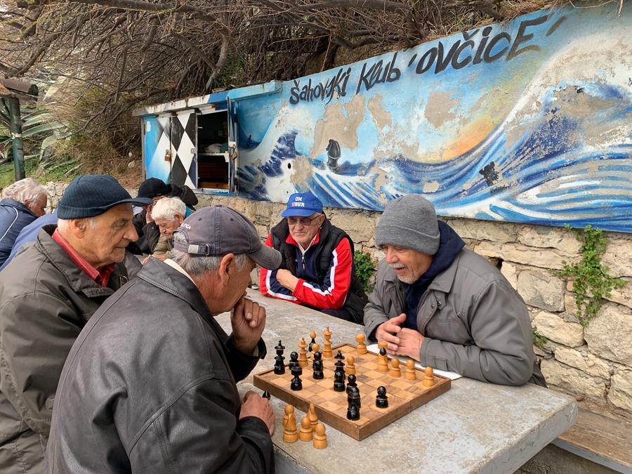 Chess Club Ovcice, Split, Croatia ©2020, Cyndie Burkhardt.