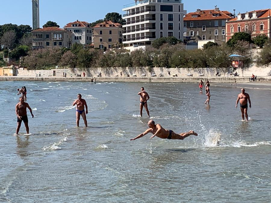 Bacvice Beach, Split, Croatia ©2020, Cyndie Burkhardt.