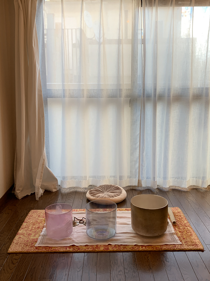 Sound Healing, Kyoto, Japan, ©2020, Cyndie Burkhardt.