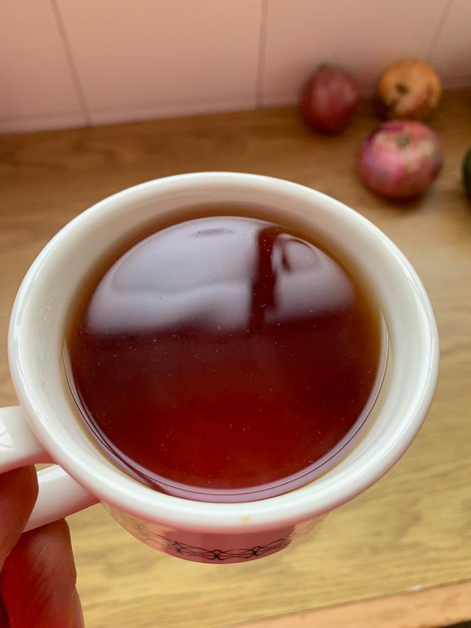 Coffee Cherry Tea at La Casa Grande Coffee Hacienda, Medellín, Colombia, ©2019, Cyndie Burkhardt.