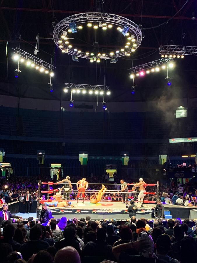 Lucha Libre Match, Mexico City, Mexico ©2019, Cyndie Burkhardt
