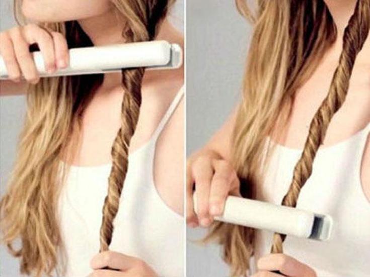 Hauptregeln, wie man das Haar erhebt, ist das Bügeln