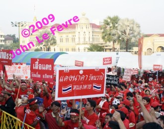 By 7.00am tens of thousands of red-shirt protesters had already gathered in front of Thailand's Government House.