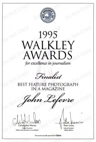 About Australian photo-journalist John Le Fevre