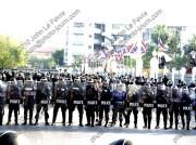 Royal Thai Police guard Thailand Parliament House in 2010