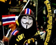 Thailand anti-amnesty bill whistle blowing protests November 6, 2013