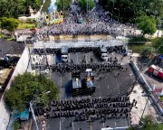 Thailand anti-democracy, anti-government protest rally December 1, 2013 aerial photos